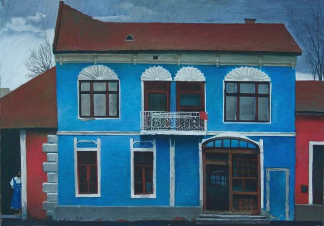 Blue House In The San Andre